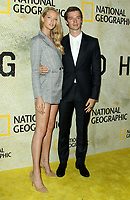 """30 October 2017 - Los Angeles, California - Abby Champion and Patrick Schwarzenegger. National Geographic's """"The Long Road Home"""" Premiere held at Royce Hall in UCLA in Los Angeles. Photo Credit: AdMedia"""