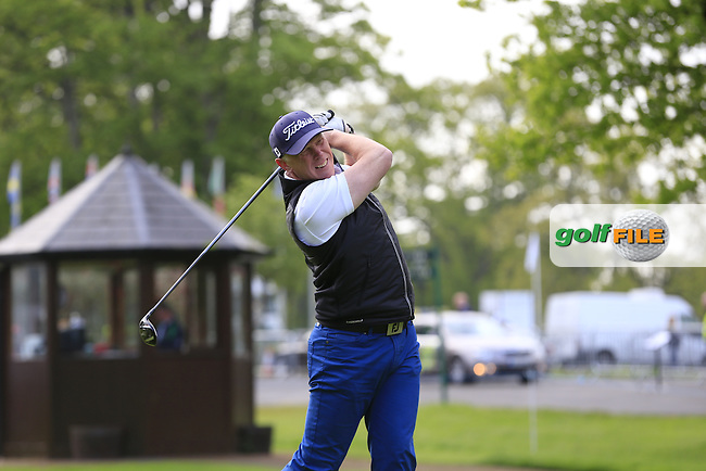 Lucas Bjerregaard (SWE) team in action during Wednesday's Pro-Am of the 2016 Dubai Duty Free Irish Open hosted by Rory Foundation held at the K Club, Straffan, Co.Kildare, Ireland. 18th May 2016.<br />