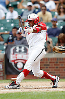 Shortstop Jesmuel Valetin #19 of Puerto Rico Baseball Academy in Manati, Puero Rico during the Under Armour All-American Game at Wrigley Field on August 13, 2011 in Chicago, Illinois.  Jesmuel is the son of former major league player Jose Valentin.  (Mike Janes/Four Seam Images)