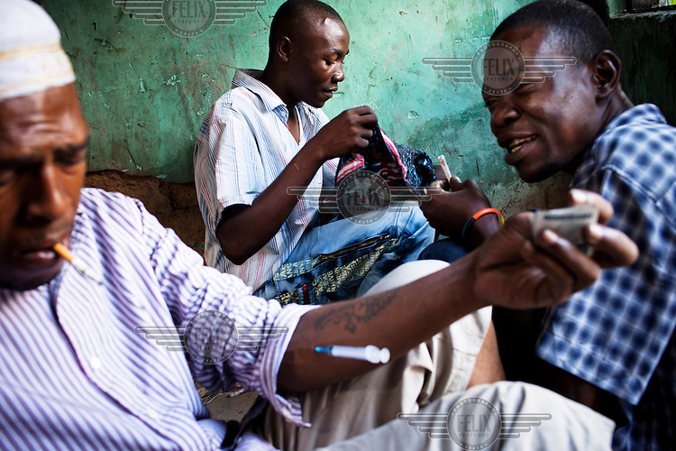 Injecting drug users in Dar Es Salaam.