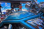 This Harley sat out front of the rock band Razing Cane at the Born to Ride Cortez Kitchen Bike event.