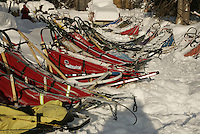 Replacement sleds await mushers in Mcgrath on Wednesday