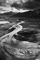 The Noatak River flows north out of the Brooks Range, Gates of the Arctic National Park, in Alaska's Arctic.