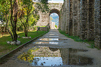 Reflection at Gjirokastra Castle, Albania Finest example of Ottoman-style city in Albania
