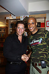 """Actor Thomas Scott II (Layon Gray's Black Angels Over Tuskegee) is introduced to The Young and The Restless Sean Kanan """"Deacon"""" at book signing on September 15, 2011 for Sean's new book """"The Modern Gentleman - Cooking and Entertaining with Sean Kanan"""" at the Drama Book Shop, New York City, New York. """"Don't just set the table, set the mood.""""  In this book """"Sean Kanan, author, actor, producer and self-taught chef offers expert field-tested instruction on how any guy can become a refined, knowledgeable chef."""" (Photo by Sue Coflin/Max Photos)"""