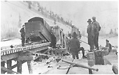RGS rotary #2 derailed at collapsed Bridge 89-A.<br /> RGS  Raymond, CO  2/1914