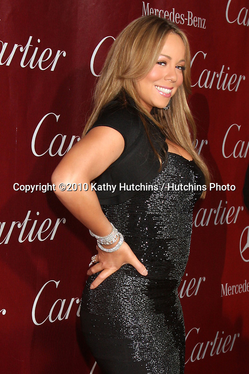 Mariah Carey.arriving at the 2010 Palm Springs Film Festival Awards Gala.Palm Springs Convention Center.January 5, 2010.©2010 Kathy Hutchins / Hutchins Photo.