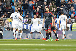 Real Madrid´s Cristiano Ronaldo celebrates a goal during 2015/16 La Liga match between Real Madrid and Celta de Vigo at Santiago Bernabeu stadium in Madrid, Spain. March 05, 2016. (ALTERPHOTOS/Victor Blanco)