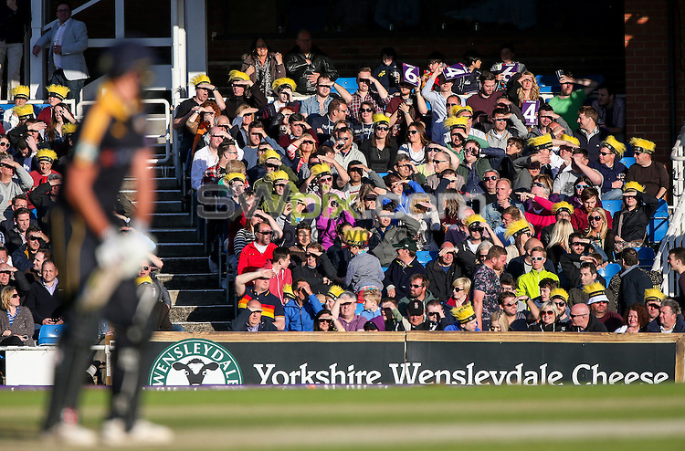 Picture by Alex Whitehead/SWpix.com - 05/06/2015 - Cricket - NatWest T20 Blast - Yorkshire Vikings v Lancashire Lightning - Headingley Cricket Ground, Leeds, England - Yorkshire fans, supporters, wensleydale.