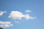 Set of photos of clouds, mainly cumulus