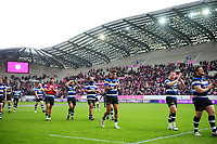 The Bath Rugby team acknowledge the travelling support after the match. European Rugby Challenge Cup Semi Final, between Stade Francais and Bath Rugby on April 23, 2017 at the Stade Jean-Bouin in Paris, France. Photo by: Patrick Khachfe / Onside Images