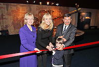 17/02/'11 RTEs Miriam O'Callaghan and her son Jamie (4) and His Excellency Mr. Amr Helmy, The Egyptyian Ambassador to Ireland and Minister Mary Hannafin pictured this afternoon after they officially opened the exhibition 'Tutankhamun: His Tomb and His Treasures' in the RDS Dublin. Tutankhamun: His Tomb and His Treasures has already delighted over 1.7 million visitors across Europe. Tickets can be bought on www.ticketmaster.ie...Picture Colin Keegan, Collins, Dublin.***NO REPRODUCTION FEE PICTURE****