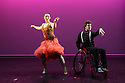 London, UK. 09.05.2018. Step Change Studios present their ballroom show Fusion, at Sadler's Wells' Lilian Baylis Studio. Fusion is the UK's first inclusive Latin and ballroom dance showcase by disabled and non-disabled artists, drawing on different dance influences such as swing and contemporary to develop original pieces inspired by Latin and ballroom. Picture shows: LATIN DUET, created and performed by Hannah Bertram and Joe Powell-Main. Photograph © Jane Hobson.
