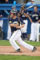 April 15,2010:  Third Baseman Ross Graham of the Genesee Community College (GCC) Cougars Men's Baseball Team at bat vs. Alfred State at Dwyer Stadium in Batavia, NY.  Photo Copyright Mike Janes Photography 2010