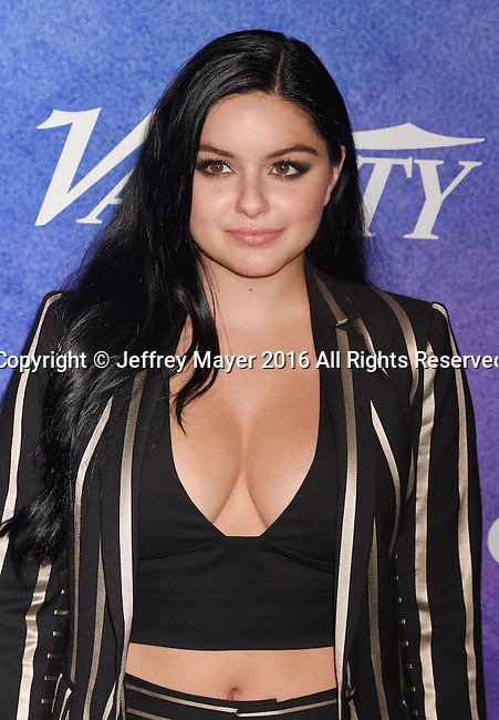 HOLLYWOOD, CA - AUGUST 16: Actress Ariel Winter arrives at Variety's Power Of Young Hollywood at NeueHouse Hollywood on August 16, 2016 in Los Angeles, California.