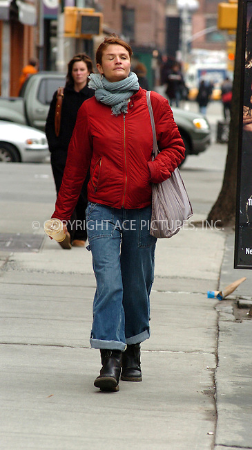 WWW.ACEPIXS.COM . . . . .***EXCLUSIVE!!! FEE MUST BE NEGOTIATED BEFORE USE!!!***....NEW YORK, MARCH 25, 2005....Helena Christensen seen walking downtown on a blustery March day.....Please byline: Philip Vaughan -- ACE PICTURES.... *** ***..Ace Pictures, Inc:  ..Craig Ashby (212) 243-8787..e-mail: picturedesk@acepixs.com..web: http://www.acepixs.com