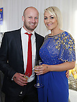 2/8/2014   (with compliments).          Alan's Sport Extravaganza Slick and Stylish Ball in the South Court Hotel, Limerick which was held in memory of Alan Feeley and in aid of the Irish Kidney Association(IKA).  Pictured are Alan Noonan, Galbally, Limerick and Elaine Walsh, Clarina, Limerick..  Picture Liam Burke/Press 22