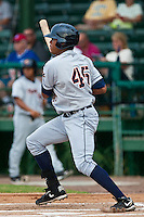 Daniel Fields of the Lakeland Flying Tigers during the game at Jackie Robinson Ballpark in Daytona Beach, Florida on August 29, 2010. Photo By Scott Jontes/Four Seam Images