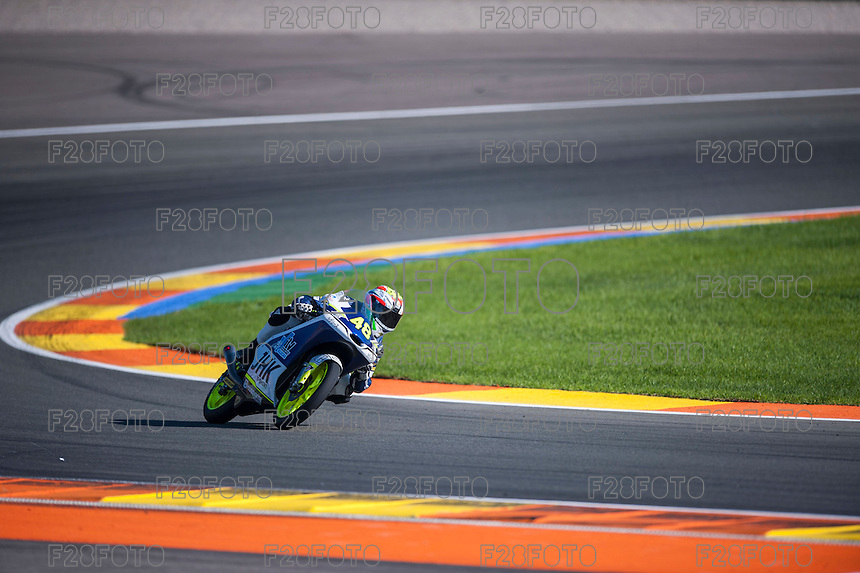 VALENCIA, SPAIN - NOVEMBER 8: Lorenzo Dalla Porta during Valencia MotoGP 2015 at Ricardo Tormo Circuit on November 8, 2015 in Valencia, Spain