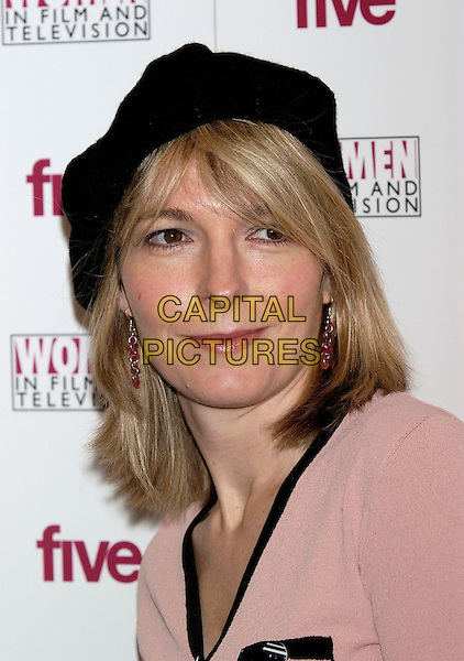 JEMMMA REDGRAVE.Five Women in Film and TV Awards,.London Hilton Hotel, Park Lane, London, .December 3rd 2004..portrait headshot black hat beret.Ref: PL.www.capitalpictures.com.sales@capitalpictures.com.©Capital Pictures.