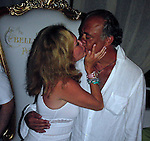 **EXCLUSIVE**.Fawaz Gruosi with wife Caroline Gruosi Scheufele..Fawaz Gruosi, De Grisogno Jewelry owner, 57th Birthday Party..Billionaire Nightclub..Porto Cervo, Sardinia, Italy.Saturday, August 08, 2009..Photo By Celebrityvibe.com.To license this image please call (212) 410 5354; or Email: celebrityvibe@gmail.com ; .website: www.celebrityvibe.com.