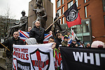 "© Joel Goodman - 07973 332324 . 28/03/2015 . Manchester , UK . Approximately 100 neo-Nazis gather in Manchester for "" White Pride Worldwide day "" . Photo credit : Joel Goodman"