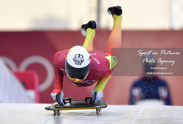 Axel Jungk (GER). Skeleton training. Alpensia sliding centrePyeongchang2018 winter Olympics. Alpensia. Republic of Korea. 13/02/2018. ~ MANDATORY CREDIT Garry Bowden/SIPPA - NO UNAUTHORISED USE - +44 7837 394578