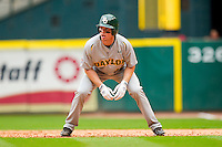Brooks Pinckard #16 of the Baylor Bears takes his lead off of first base against the Houston Cougars at Minute Maid Park on March 4, 2011 in Houston, Texas.  Photo by Brian Westerholt / Four Seam Images