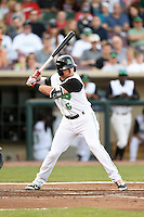Dayton Dragons right fielder Ed Charlton (6) during a game against the South Bend Cubs on May 11, 2016 at Fifth Third Field in Dayton, Ohio.  South Bend defeated Dayton 2-0.  (Mike Janes/Four Seam Images)