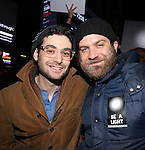 Noah Himmelstein attends The Ghostlight Project to light a light and make a pledge to stand for and protect the values of inclusion, participation, and compassion for everyone - regardless of race, class, religion, country of origin, immigration status, (dis)ability, gender identity, or sexual orientation at The TKTS Stairs on January 19, 2017 in New York City.