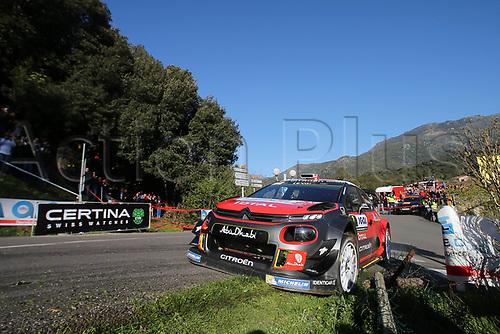 April 8th 2017, Island of Corsica; WRC Rally of Corsica, Day 2; 7- Kris MEEKE (GRB) Paul NAGLE (IRL) CITROEN C3 WRC RC1 WRC