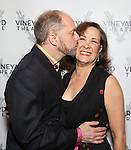 Daniel Jenkins and Karen Ziemba attend the opening night performance photo call of the Vineyard Theatre's 'Kid Victory' at the Vineyard Theatre on February 22, 2017 in New York City.