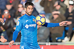 Markel Bergara Larranaga of Getafe CF in action during the La Liga 2017-18 match between Getafe CF and Valencia CF at Coliseum Alfonso Perez on December 3 2017 in Getafe, Spain. Photo by Diego Gonzalez / Power Sport Images