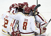 Paul Carey (BC - 22), Edwin Shea (BC - 8), Patrick Wey (BC - 6) - The Boston College Eagles defeated the Providence College Friars 7-0 on Saturday, February 25, 2012, at Kelley Rink at Conte Forum in Chestnut Hill, Massachusetts.
