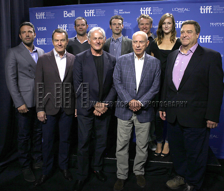 Ben Affleck with the cast attending the The 2012 Toronto International Film Festival.Photo Call for 'Argo' at the TIFF Bell Lightbox in Toronto on 9/8/2012