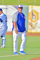 Tennessee Smokies pitching coach Storm Davis (36) before a game against the Mobile BayBears on May 27, 2015 in Kodak, Tennessee. The Smokies defeated the BayBears 3-2. (Tony Farlow/Four Seam Images)