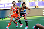 The Hague, Netherlands, June 12: Rocio Sanchez Moccia #17 of Argentina and Kelly Jonker #10 of The Netherlands look on during the field hockey semi-final match (Women) between The Netherlands and Argentina on June 12, 2014 during the World Cup 2014 at Kyocera Stadium in The Hague, Netherlands. Final score 4-0 (3-0)  (Photo by Dirk Markgraf / www.265-images.com) *** Local caption ***