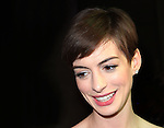 Anne Hathaway attending The Museum of Moving Image salutes Hugh Jackman at Cipriani Wall Street in New York on December 11, 2012