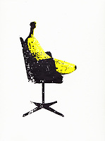 Top banana sitting in manager's chair