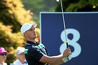 Dylan Perry (Aus) tees off at the 8th on day one of the 2017 Asia-Pacific Amateur Championship day one at Royal Wellington Golf Club in Wellington, New Zealand on Thursday, 26 October 2017. Photo: Dave Lintott / lintottphoto.co.nz