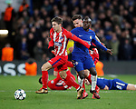 Luciano Vietto of Atletico Madrid goes past Ngolo Kante of Chelsea during the Champions League Group C match at the Stamford Bridge, London. Picture date: December 5th 2017. Picture credit should read: David Klein/Sportimage