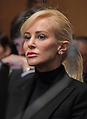 Scottish actress-producer-lawyer Louise Linton, Steven T. Mnuchin's fiancee sits behind him as he appears before the United States Senate Committee on Finance considering his nomination to be Secretary of Energy on Capitol Hill in Washington, DC on Thursday, January 19, 2017.<br /> Credit: Ron Sachs / CNP