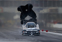 Apr. 26, 2013; Baytown, TX, USA: NHRA funny car driver Cruz Pedregon during qualifying for the Spring Nationals at Royal Purple Raceway. Mandatory Credit: Mark J. Rebilas-