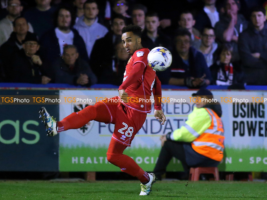 Nicky Maynard of MK Dons in action during AFC Wimbledon vs MK Dons, Sky Bet EFL League 1 Football at the Cherry Red Records Stadium on 14th March 2017