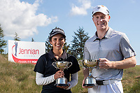 Tara Raj and James Anstiss.  Jennian Homes Harewood Open Golf, Charles Tour, Harewood Golf Club, Christchurch, Sunday 7th October 2018. Photo: Joseph Johnson/www.bwmedia.co.nz