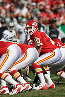 Chiefs quarterback Trent Green lines up against the Oakland Raiders at Arrowhead Stadium in Kansas City, Missouri on November 19, 2006. The Chiefs won 17-13.