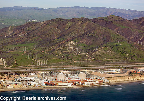 aerial photograph San Onofre Nuclear Generating Station Pacific Coast California