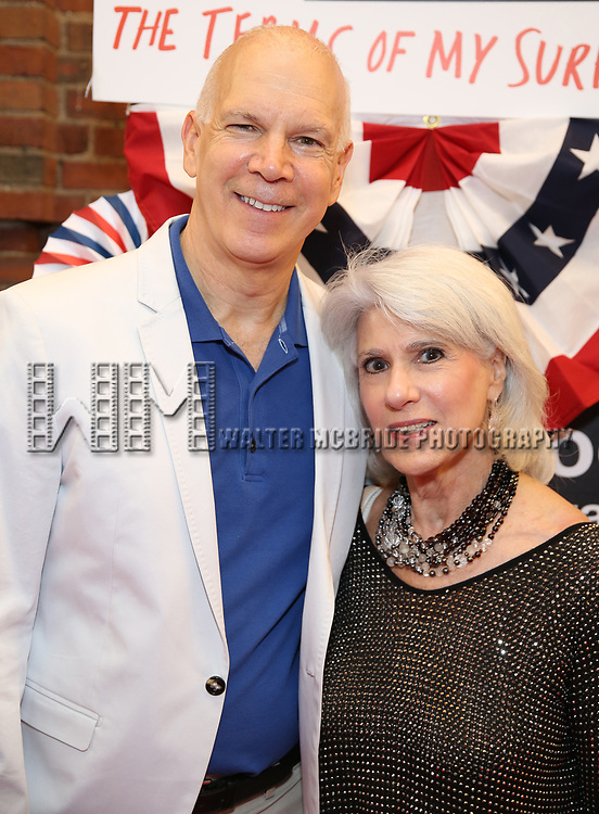 David Zippel and Jamie deRoy attends the Broadway Opening Night Performance for 'Michael Moore on Broadway' at the Belasco Theatre on August 10, 2017 in New York City.