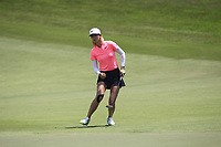Michelle Wie (USA) lines up the putt that makes her the outright winner during Round 4 of the HSBC Women's World Championship 2018 at Sentosa Golf Club on the Sunday 4th March 2018.<br /> Picture:  Thos Caffrey / www.golffile.ie<br /> <br /> All photo usage must carry mandatory copyright credit (&copy; Golffile | Thos Caffrey)