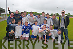 Manager Con OSullivan with the victorious Killarney Athletic team that won.the Kerry Schoolboys U15 Cup in Mounthawk park on Saturday Back l-r:.Con OSullivan, Anthony OSullivan, Barry Kelliher, Chris Brady, Kieran.Ward, Jamie OSullivan, Ed OSullivan, James Coffey, Billy McGuire, Alex.OSullivan, Front l-r Keith OLeary, Tom Hogan, Ryan Murphy, Raphael Syc,.John Doyle, Kieran Slattery, Mark Henessy and Gearoid Doherty.